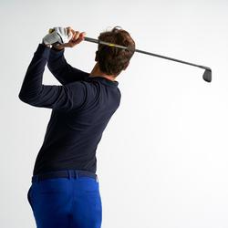 Men's Golf Long Sleeve Polo Shirt - Navy Blue