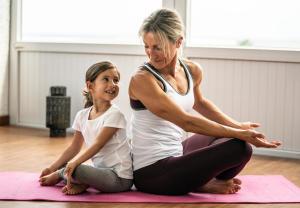 Quarantaine yoga voor kinderen