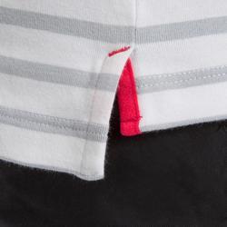 T-Shirt Manches longues - Marinière de voile Sailing 100 Fille Gris