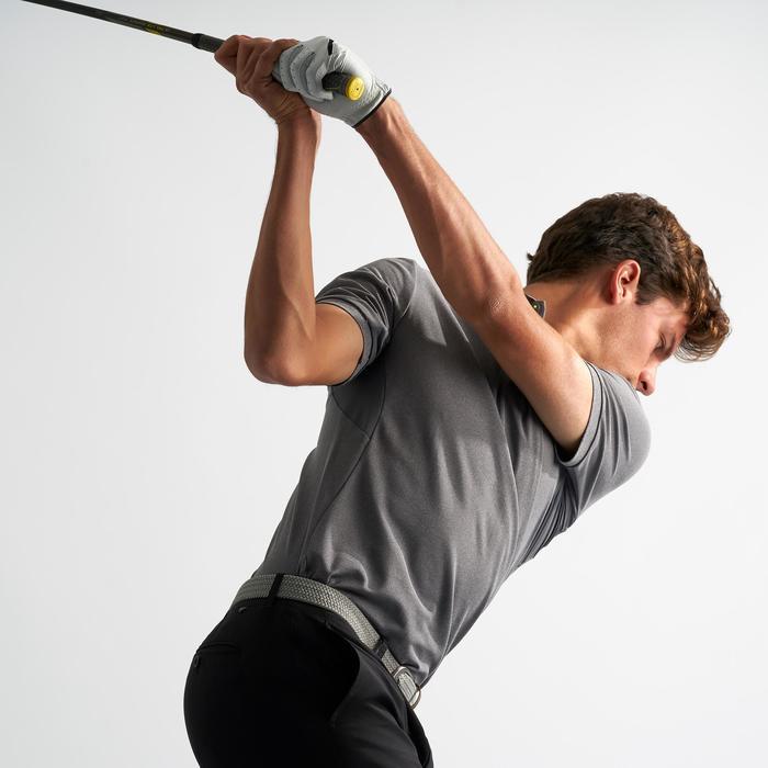 Ademende golfpolo voor heren gemêleerd grijs