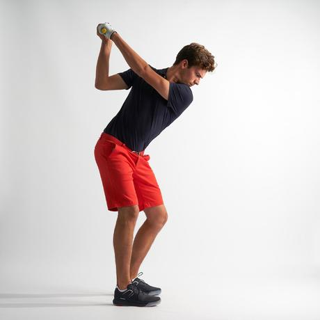1ea69846d0ac Polo de golf hombre manga corta 500 tiempo templado azul marino ...