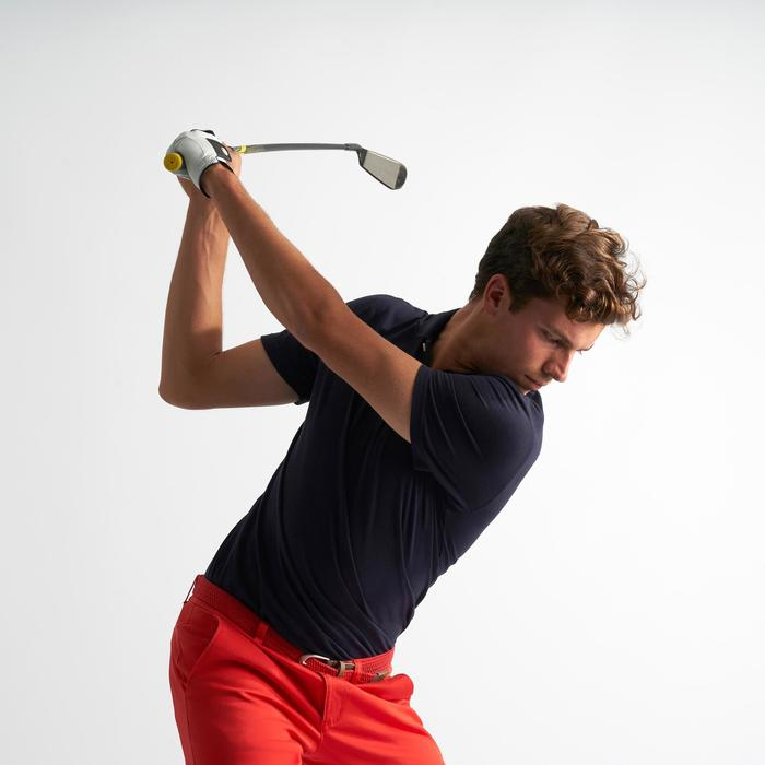 Polo de golf hombre manga corta 500 tiempo templado azul marino