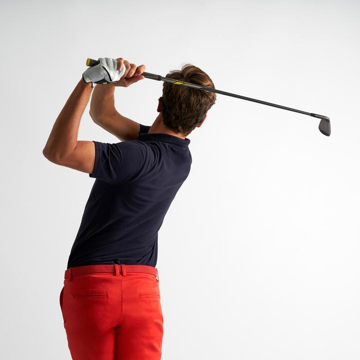 男款溫和氣候短袖高爾夫球POLO衫-軍藍色