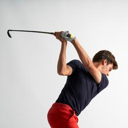 Polo de golf homme manches courtes 500 temps tempéré marine