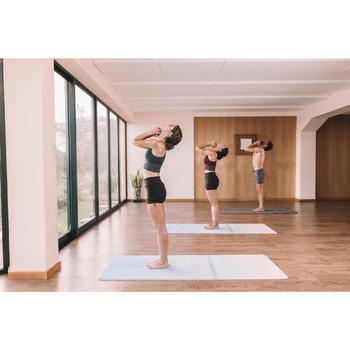 Kurze Sporthose Yoga Iyengar Herren dunkelgrau