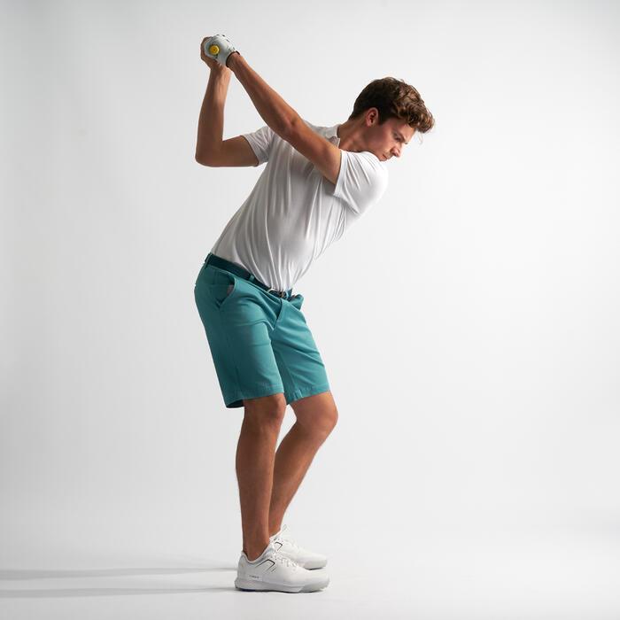 男款溫和氣候高爾夫短褲-藍灰配色