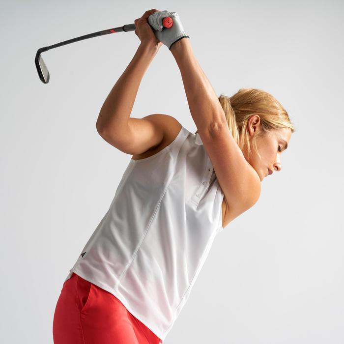 Golf Poloshirt Damen atmungsaktiv weiß
