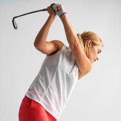 Polo golf femme respirant blanc