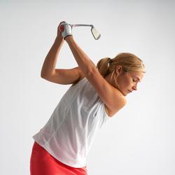 Ademende golfpolo voor dames wit