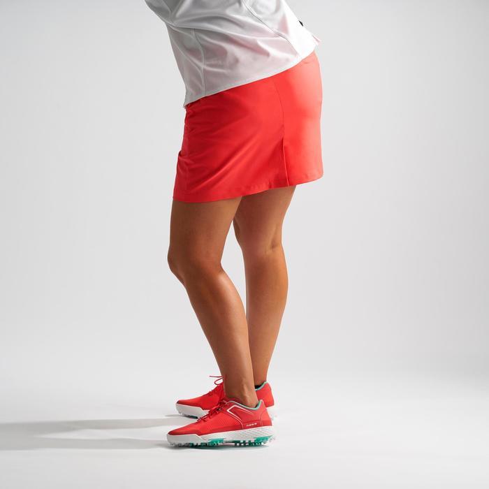 Shortrokje voor golf dames warm weer aardbeiroze