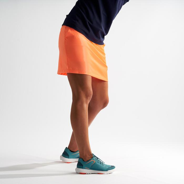 Golf Skort Warmes Wetter Damen neon-orange