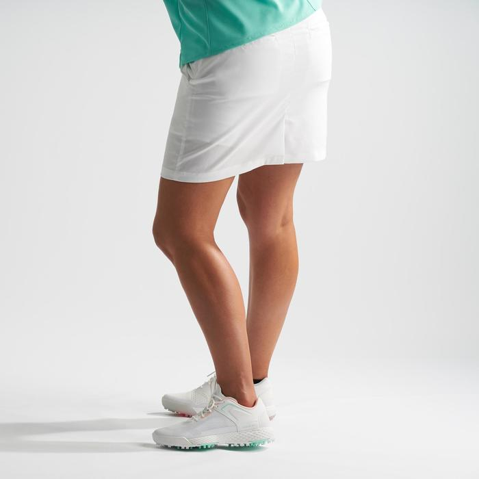 女款溫暖氣候高爾夫褲裙-白色