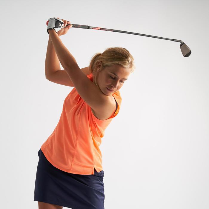 Golf-Poloshirt ärmellos Damen orange/korallenrot
