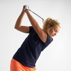 Golfpolo met korte mouwen voor dames warm weer marineblauw
