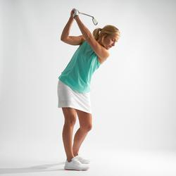 Golf Poloshirt Kurzarm Damen helltürkis