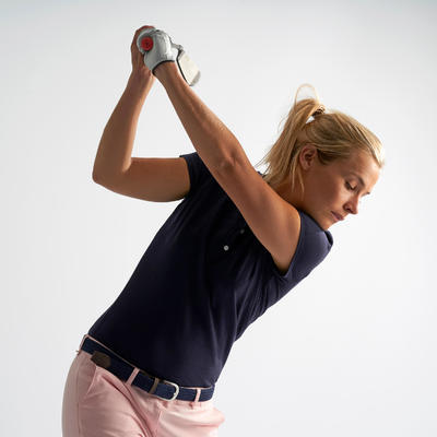 WOMEN'S GOLF POLO SHIRT NAVY BLUE