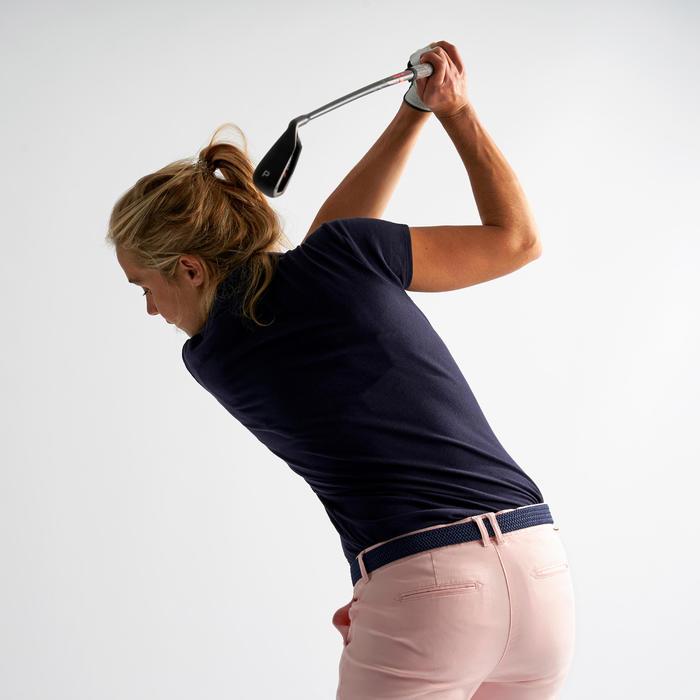 Golf Poloshirt kurzarm Damen marineblau