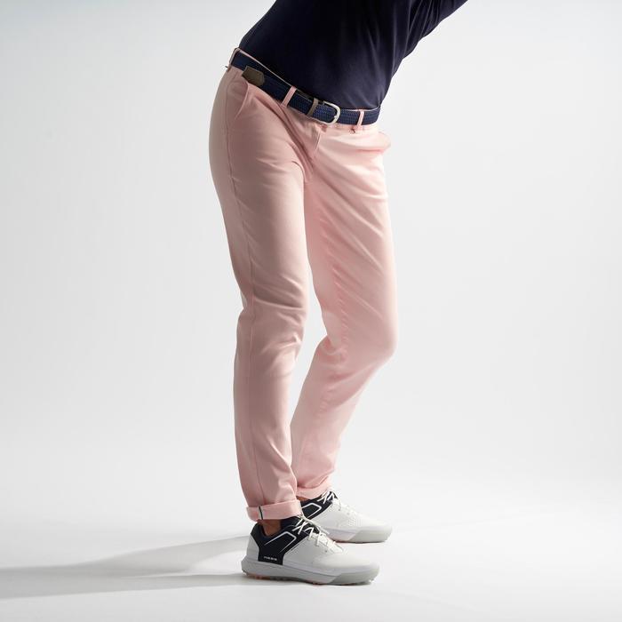 Golfbroek voor dames zacht weer lichtroze