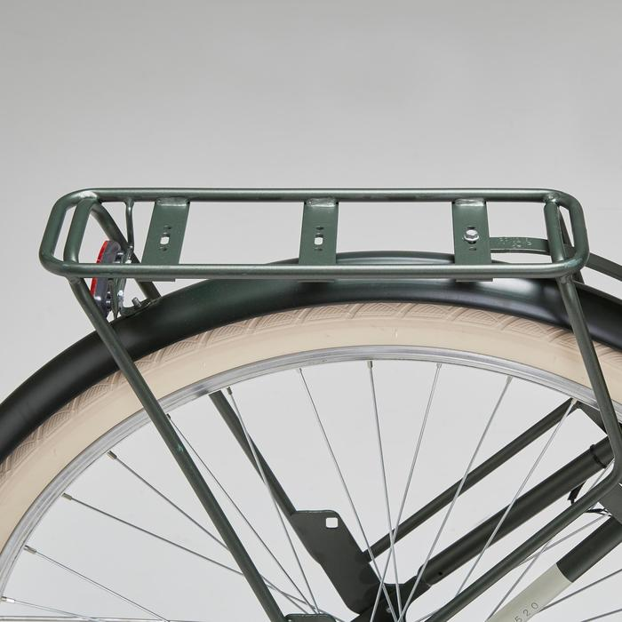 Stadsfiets Elops 520 hoog frame kaki