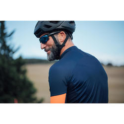 Kurzarm-Radtrikot Rennrad RC 500 Herren navy/orange