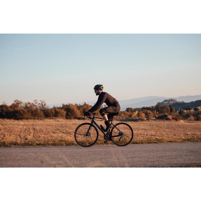 Langarm-Radtrikot Rennrad RC 500 Herren schwarz