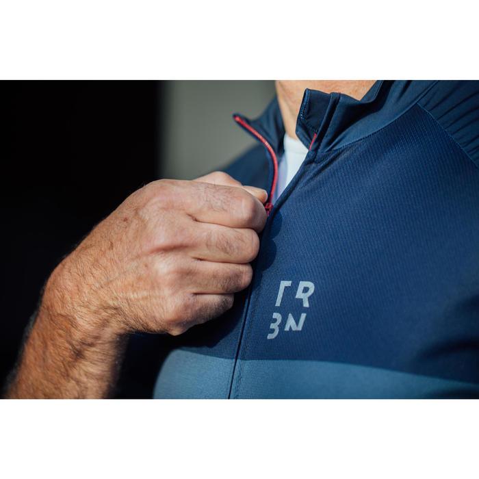 Wielershirt RC500 met korte mouwen voor heren marineblauw/bordeaux