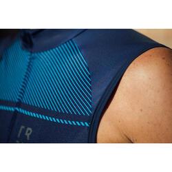 Mouwloos wielershirt RC500 voor heren blauw