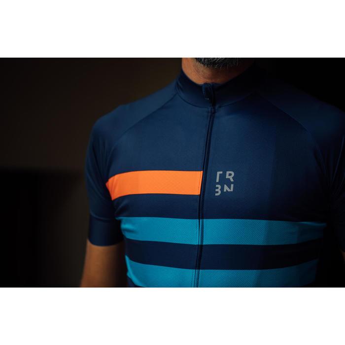 Fietsshirt met korte mouwen heren warm weer RC500 blauw