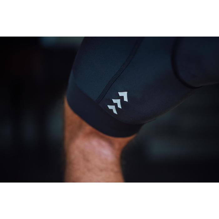 Cuissard vélo route sans bretelles homme cyclotourisme RC500 noir avec poche