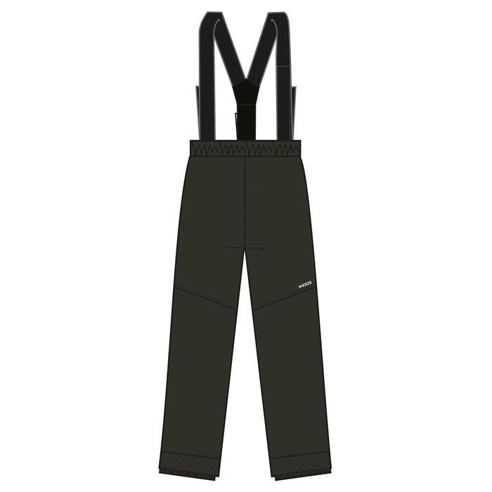 兒童滑雪長褲100 - 灰色