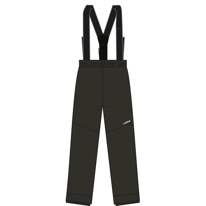 兒童滑雪長褲100 - 黑色