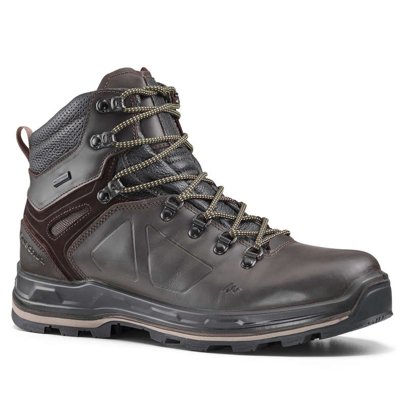 MEN SHOES MOUNTAIN TREK - Trek 500 Mens Waterproof Walking Boots - Brown  FORCLAZ