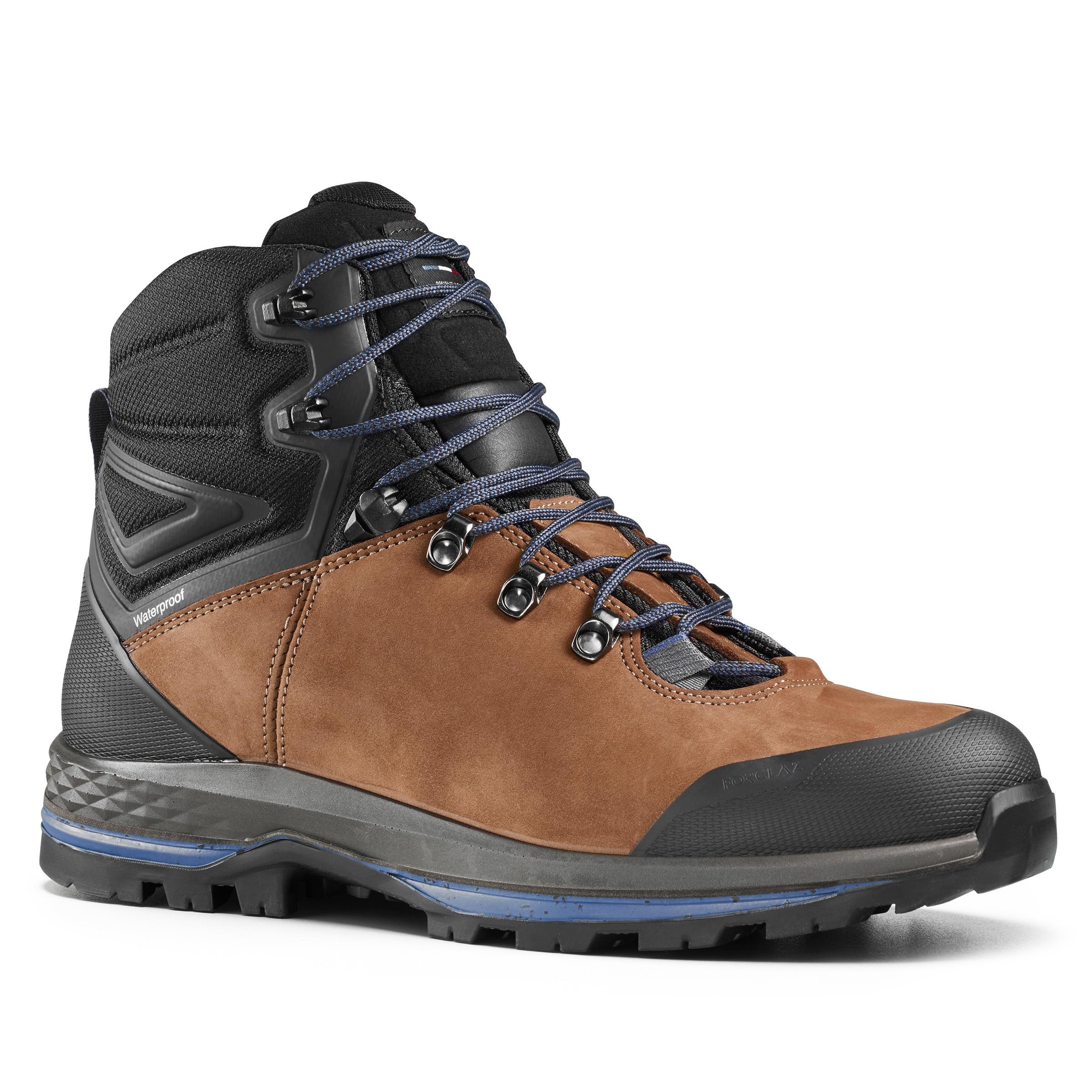 Chaussures de trekking montagne TREK100 cuir homme - Forclaz