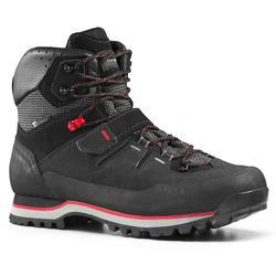 Botas Impermeables de Montaña y Trekking, Forclaz, Trek700, Hombre, Negro/rojo