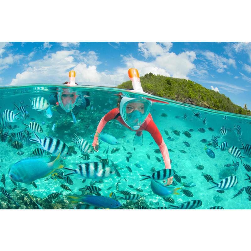 900 1.5mm kids neoprene snorkelling top coral pink