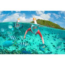 Snorkeltop in neopreen van 1,5 mm voor kinderen 900 koraalrood