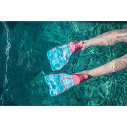 Snorkelvinnen SNK 500 voor kinderen roze turquoise