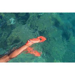 Palmes de snorkeling réglables adulte SNK 100 orrange