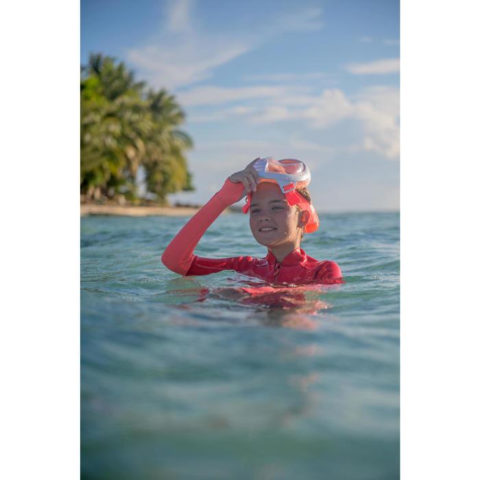Máscara de Snorkeling à superfície Easybreath Júnior (6-10 anos/tam XS) Laranja