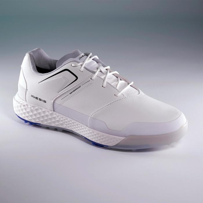 CHAUSSURES GOLF HOMME GRIP WATERPROOF BLANCHES