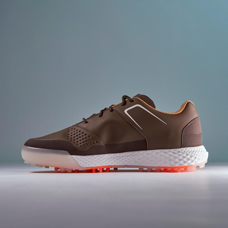 MEN'S WATERPROOF GRIP GOLF SHOES BROWN