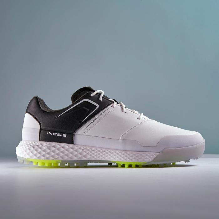 ZAPATOS GOLF HOMBRE GRIP WATERPROOF BLANCO Y NEGRO