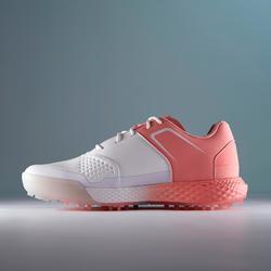 Golfschuhe Grip Wasserdicht Damen weiß/rosa