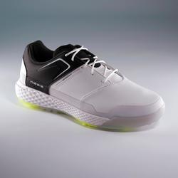 CHAUSSURES GOLF HOMME GRIP WATERPROOF BLANCHES ET NOIRES