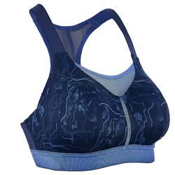 KALENJI RUNNING BRA ADJUSTABLE WITH CUPS BLUE