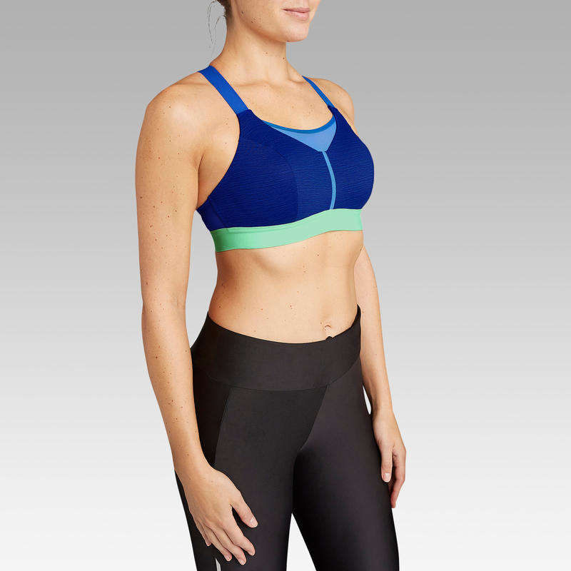 COMFORT RUNNING BRA MOTTLED BLUE