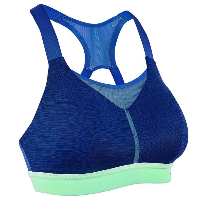 Hardloopbeha Gemêleerd blauw Fluogroen elastiek Kalenji