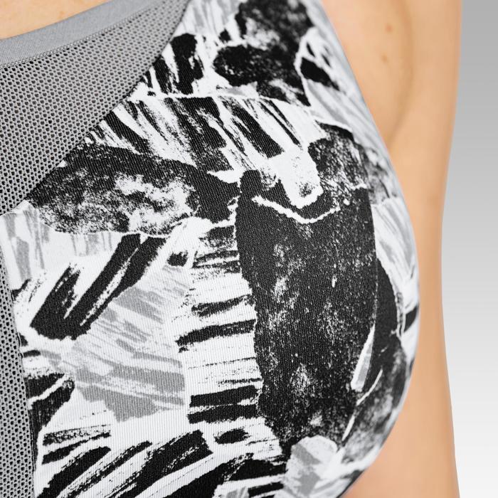 可調式罩杯跑步內衣KALENJI灰色