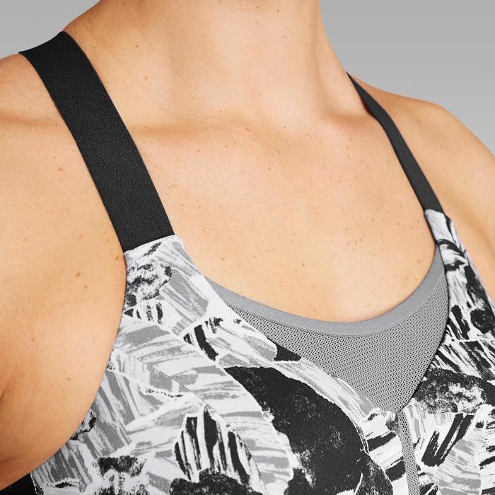 Sport-BH Bustier Komfort grau camouflage