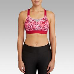 Hardloopbeha Comfort roze/rood met camouflageprint